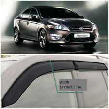 Wide Window Visors Side Guard Vent Deflectors For Ford Mondeo IV Sd 2007-2013