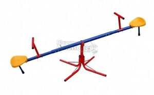 Seesaw Portable Easy Assemble Steel See Saw Backyard Indoors 360 rotating NEW