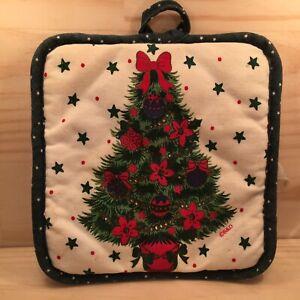 """CHRISTMAS TREE """"Green"""" Lovely Pot Holder Festive Kitchen Oven Mitt Cloth"""