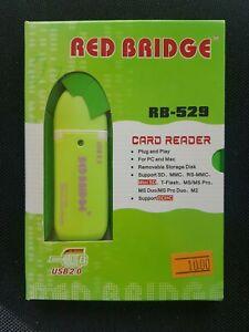 RED BRIDGE Kartenlesegerät PC Kartenlesegerät MAC Lesegerät USB Stick NEU & OVP