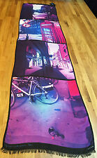 """Paul Smith LONDON PRINT HUGE Scarf """"DAY DREAMING WITH MY CAMERA"""" Made in Italy"""