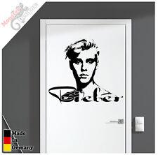 """Justin Bieber Wandtattoo / Türtattoo """"Einmalig"""" Aufkleber"""