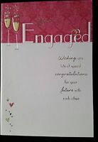 "F33)Lot de 6 Cartes ""You're Engaged"" + enveloppes Rouge - Neuf"