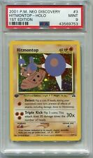 Pokemon Card 1st Edition Hitmontop Holo Neo Discovery Set 3/75, PSA 9 Mint