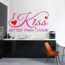 I Kiss Better than i Cook Wall Sticker Decal Transfer (Art1) vinyl decor