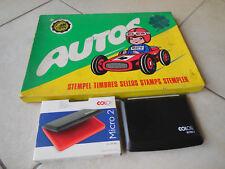 Orig.DDR-AUTOS-Bilderstempel-Spiel komplett in Pappkart+Stempelkissen 60erJahre
