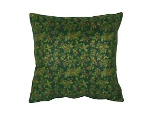 """Christmas Holly Green Cushion/Scatter Cover Filled/Unfilled 18"""" 20"""" 22"""" 24"""""""