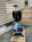 Antique Case Tractor Old Abe Cast Iron Eagle in Mint Condition