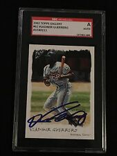 VLADIMIR GUERRERO 2002 TOPPS GALLERY SIGNED AUTOGRAPHED CARD #62 SGC AUTHENTIC