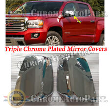 For 2014 2015 2016 2017 GMC Canyon Top Half Chrome Mirror Covers