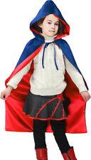 Satin Boys & Girls Reversible Hooded Cloak (Blue/Red)