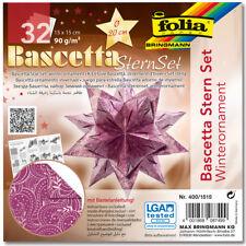 folia Faltblätter Bascetta-stern lila / bedruckt (57905238)