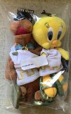 Vintage Scooby Doo & Tweety Bird Las Vegas Bean Bag Plush Warner Bros 1998 NWT