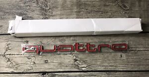 Red Quattro Decal Sticker Front Grill Badge Emblem Logo Fit Audi snapped - read!