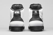 2016 Nike Air Jordan 2 II Wing It size 14. Black/White/Grey. 834274-103. red low