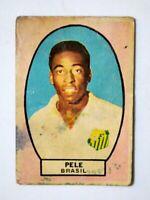 PELE SANTOS FOOTBALL CLUB BRAZIL SOCCER CARD 1966 ALBUM CAMPEON ARGENTINA