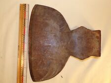 Antique Broad Axe Ax Head Wood Hewing Axe Log Tool with Makers Mark