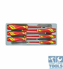 Teng Tools 6 Piece 1000 Volts Screw Driver Set MDV906N