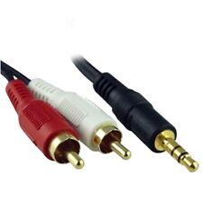 1M 3.5mm Jack Audio MP3 DVD iPhone iPod iPad To Twin 2x RCA Phono Speaker Cable