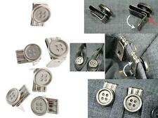 REMOVABLE INSTANT BUTTONS LEATHER BRACES BRACERS SUSPENDERS CLIP ON NO SEWING