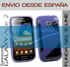 FUNDA GEL TPU MORADA SAMSUNG GALAXY ACE 2 i8160 EN ESPAÑA CARCASA