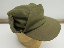 Vintage WWII Canadian Military Buffalo Cap Green Uniform by Principal Hat ARMY