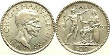 Savoia Regno d'Italia - Vittorio Emanuele III - 20 Lire 1927 SPL/FDC Ag Mir1128b