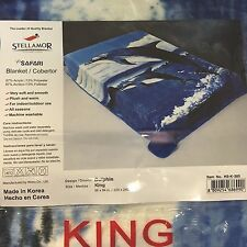 Wonu Hi-Safari Stellamor Original Acrylic King Size Korean Dolphin Blanket