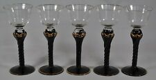 5 Claw Foot Ball Drinking Cordial Glasses Black