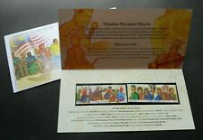 Malaysia Unity 2002 Traditional Costume Games Musical Instrument (p. pack) MNH