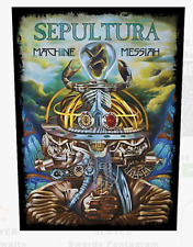 SEPULTURA - MACHINE MESSIAH - BACK PATCH - BRAND NEW - MUSIC BAND 1048