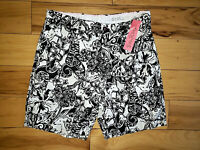 Mens Lilly Pulitzer Beaumont Short Shorts Black/White Size 32 New NWT $98 Oynx