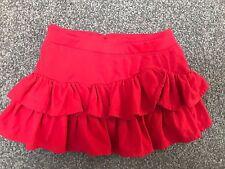 RALPH LAUREN Authentic Girls Gorgeous Cotton Red Skirt  Size 4