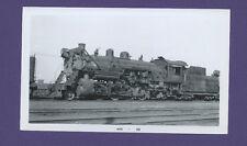 Chicago Burl Quincy CBQ 2-8-2  Steam Locomotive #802 Vintage B&W Railroad Photo