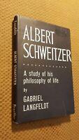 Albert Schweitzer: A study of his philoso (Langfeldt, Gabriel - 1960) (ID:62425)