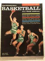1957 Pro Basketball Annual BOSTON CELTICS Bob COUSY All Star ANNUAL Top ROOKIES