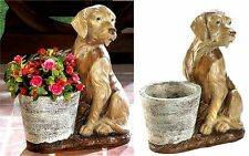 IRRISTABLE VESTED RETRIEVER DOG GUARDING FLOWER POT PLANTER *In/OutDoor* NIB