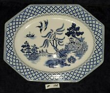BLUE WILLOW - PLATTER ironstone MEAKIN England 12x9.5