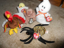 TY BEANIE BABIES COLLECTIBLE DECORATION HALLOWEEN THANKSGIVING EASTER RETIRED