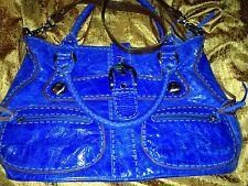 "Carla Marcini Electric Blue Top Quality Handmade Italian Leather Handbag ""hobo"""