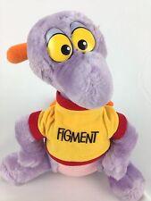 "Disney Parks Figment 10""  Epcot Mascot Plush Cloth Tag Made in Korea Stuffed"