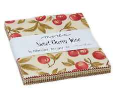 "Moda FABRIC Charm Pack ~ SWEET CHERRY WINE ~ by Blackbird Designs  5"" squares"