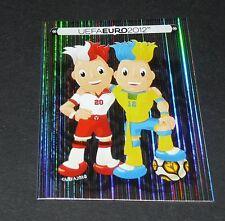 3 MASCOTTES UKRAINE YKPAÏHA POLOGNE POLSKA FOOTBALL PANINI UEFA EURO 2012