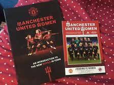 More details for programme, ticket, magazine manchester united women first ever home game 2018