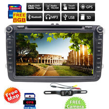 8'' 2Din Autoradio Car Stereo DVD Player For VW Golf 5 POLO PASSAT JETTA+HD Cam