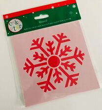 Large SNOWFLAKE STENCIL Design By Cake Star Sugarcraft Christmas FROZEN TOPPING