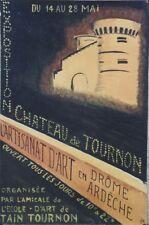 """""""EXPO ARTISANAT d'ART TOURNON 1961"""" Maquette gouache s/papier entoilée signée JG"""