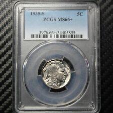 1935 S Buffalo Nickel PCGS MS66+ Plus - Outstanding! (05855)