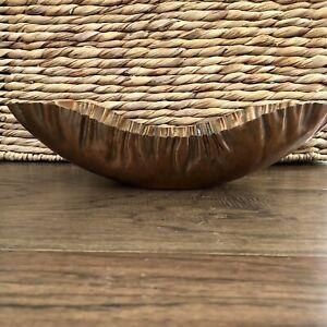 Drumgold Copper Bowl Planter Scalloped Crimped Edge 286-11 Vintage