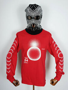 Huf Worldwide Skateboard Longsleeve Tee T-Shirt LS Ground Control Red in M